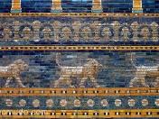 mosaico leones babilonios  en pergamomuseum