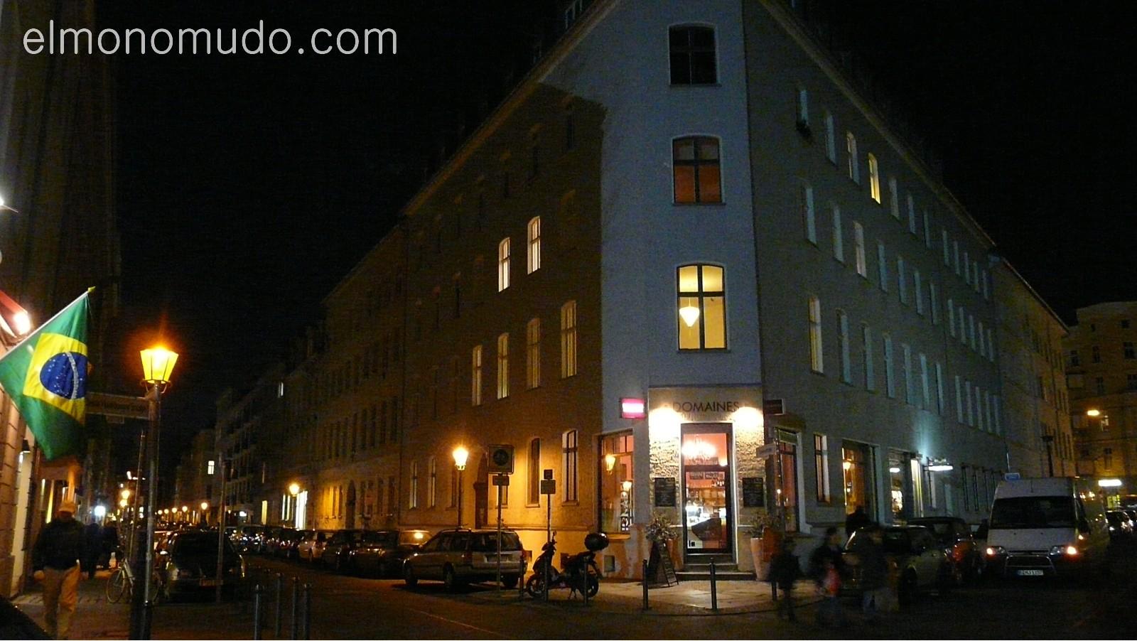 barrio judio de noche. berlin