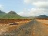 Carretera pérdida en Isla de Sao Vicente. Cabo Verde