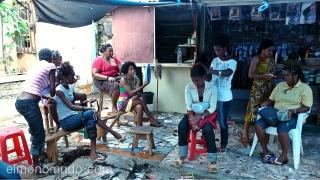 Peluqueria en mercado Sucupira. Praia. Cabo Verde