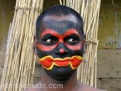 Actor maquillado. Kochi. Kerala.