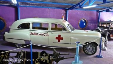 museo de la moto y el coche clasico. hervas.caceres.ambulancia