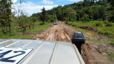 Colombia.El Chocó.Carretera enfangada del aeropuerto a El Valle