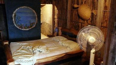 alojamiento basico. interior cabaña.cabo de la vela.la guajira.colombia