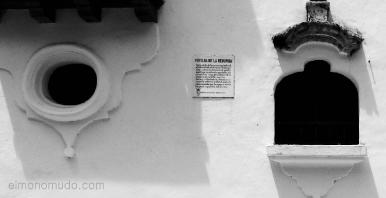 ventana de la denuncia. palacio de la inquisición. cartagena de indias.colombia