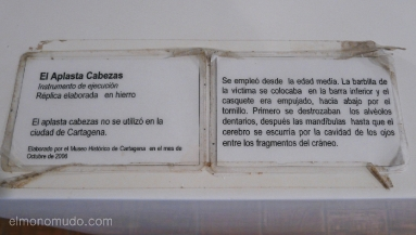 instrumentos tortura. palacio de la inquisición. cartagena de indias.colombia