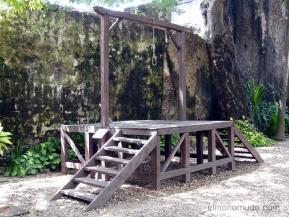 horca. instrumentos tortura. palacio de la inquisición. cartagena de indias.colombia