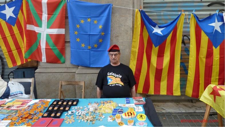 diada nacional catalunya. 11.09.2012 . catalan muy cabreado con el estado español