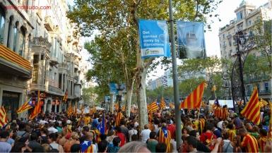 diada nacional catalunya. barcelona 11.09.2012 . manifestacion por la independencia
