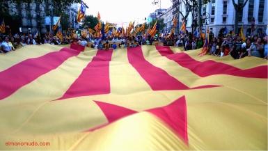 diada nacional catalunya. barcelona 11.09.2012 . manifestacion por la independencia . estelada