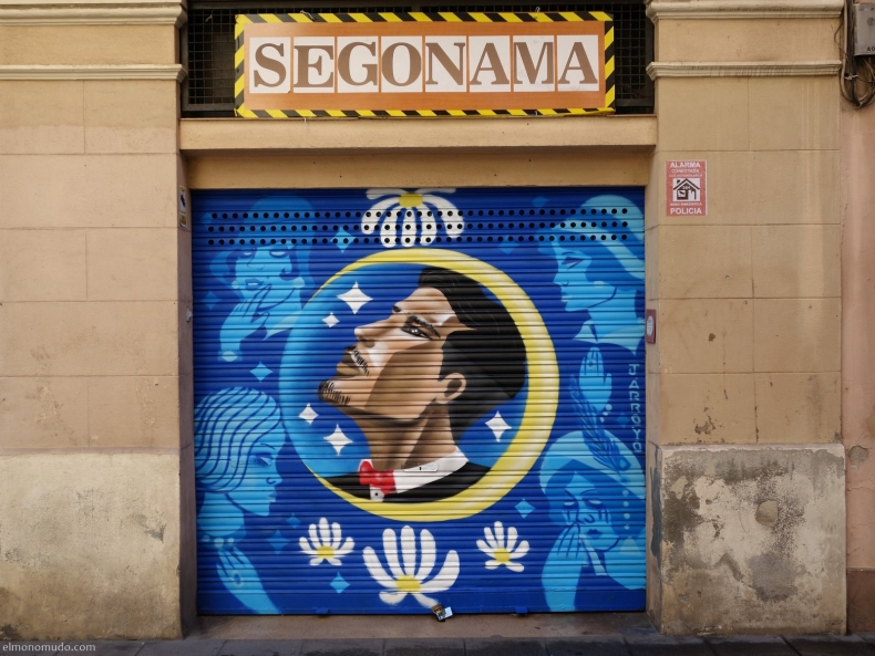 graffitis en gracia. barcelona