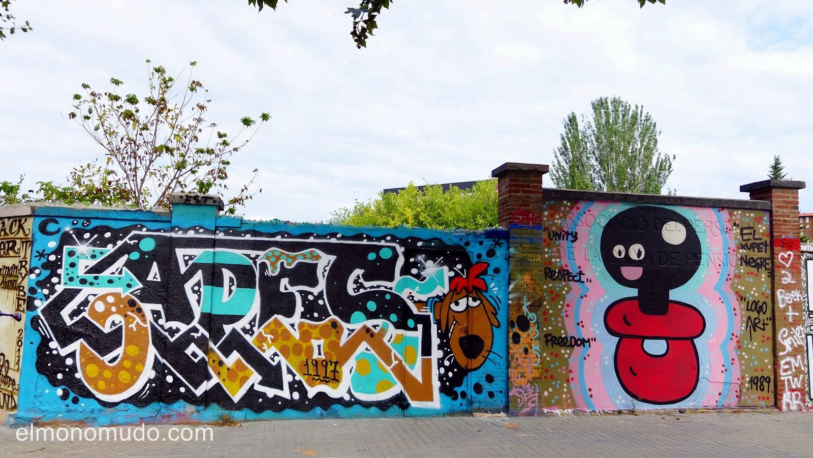 street art.graffiti en poblenou.barcelona.