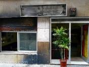 Incendio intencionado de contenedores de basura en calle Cardener, 14. Barcelona. Bar Canon