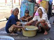 Ancianas vendedoras de pescado. Lombok. Indonesia.