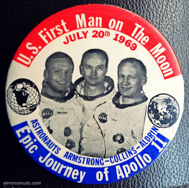badge/chapa U.S.First Man on The Moon-Epic Journey of Apollo 11