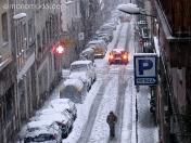 nieve en gracia. barcelona