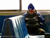 viajero del ferry entre manhattan y staten island
