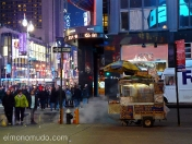 hot dogs. streets of new york by night