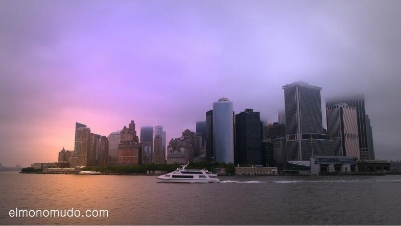 Manhattan desde el ferry de Staten Island
