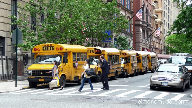 School Bus in Manhattan