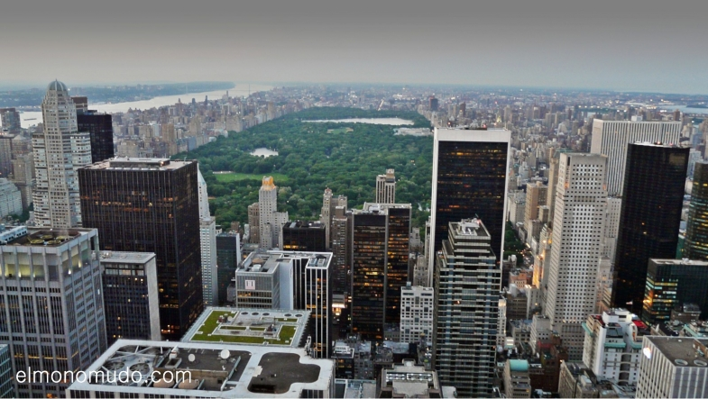 Manhattan y Central Park desde el Top of the Rock/observatorio Rockefeller