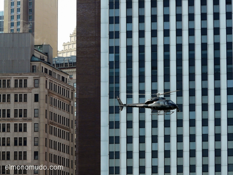 helicoptero en manhattan.new york