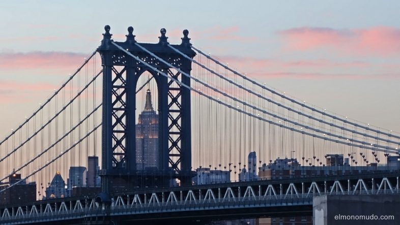 empire state building and manhattan bridge