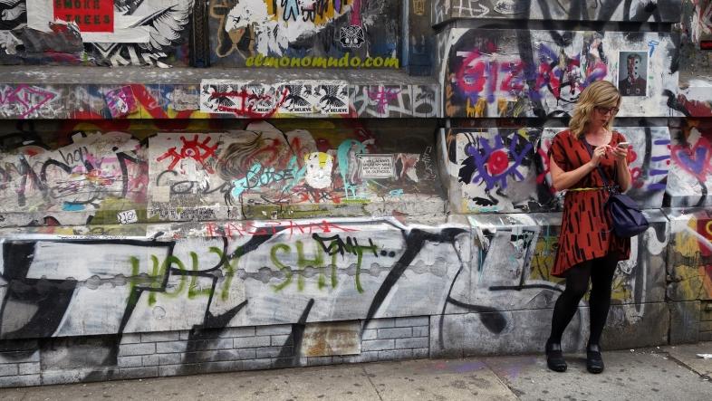 Graffiti in 190 Bowery.Manhattan.New York City 1
