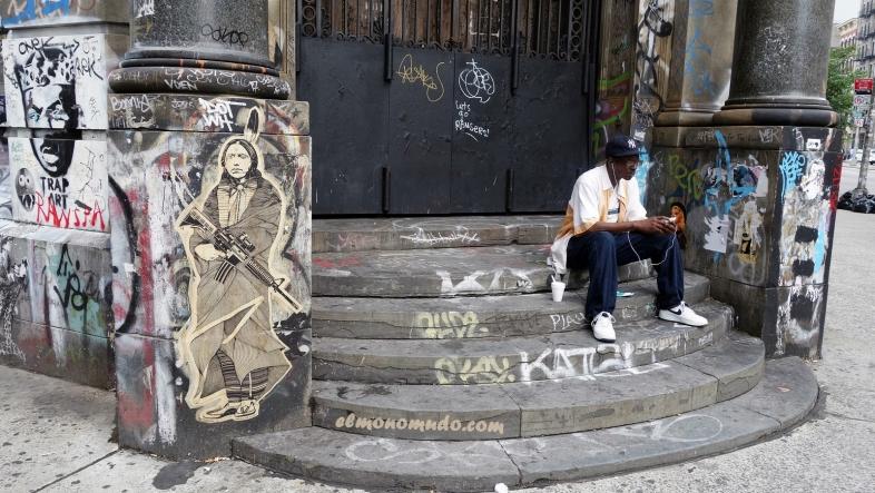 Graffiti in 190 Bowery.Manhattan.New York City 3