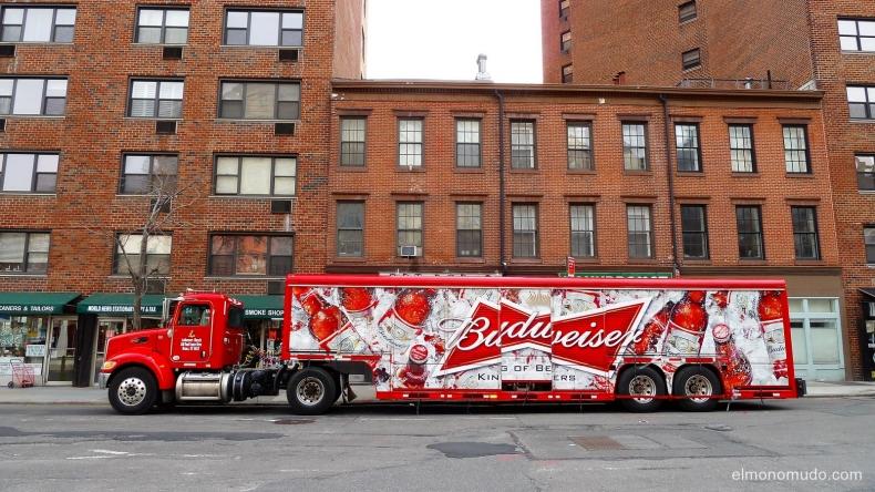budweiser truck.manhattan.new york city