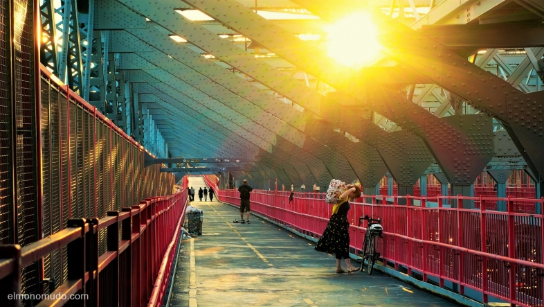 manhattan bridge.new york city