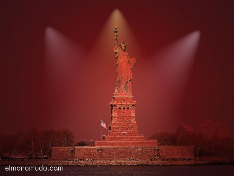 New York. La Estatua de la Libertad reinterpretada.