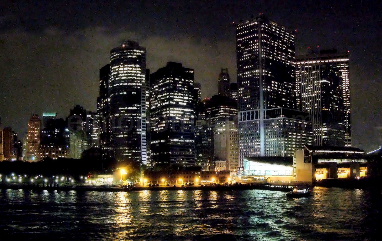 New york city night viewed from the empire