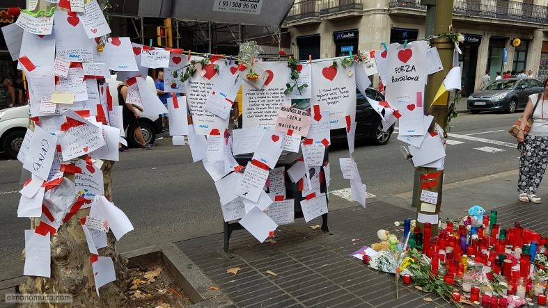 barcelona, atentado ramblas, no tinc por, mensajes