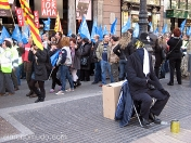estatuas humanas.el hombre invisible.ramblas de Barcelona
