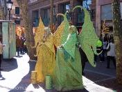 estatuas humana.hadas. ramblas de Barcelona