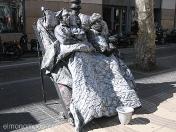 estatuas humana.durmientes. ramblas de Barcelona
