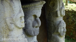 estatua parque arqueologico de san agustin. colombia
