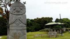 estatua devorando niño. parque arqueologico de san agustin. colombia