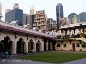 Templo de Sri Mariamman, el santuario hindú más antiguo de Singapur.