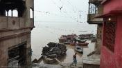 Varanasi barcas crematorio
