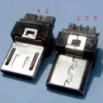 Micro USB B Conector pines