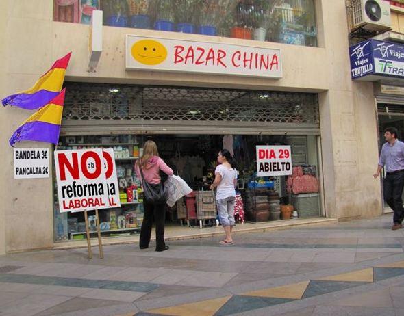 los bazares chinos y la huelga general