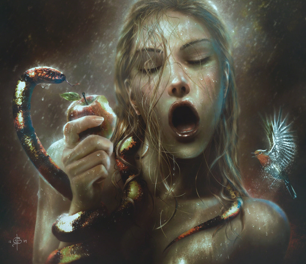 eva y la serpiente que habla