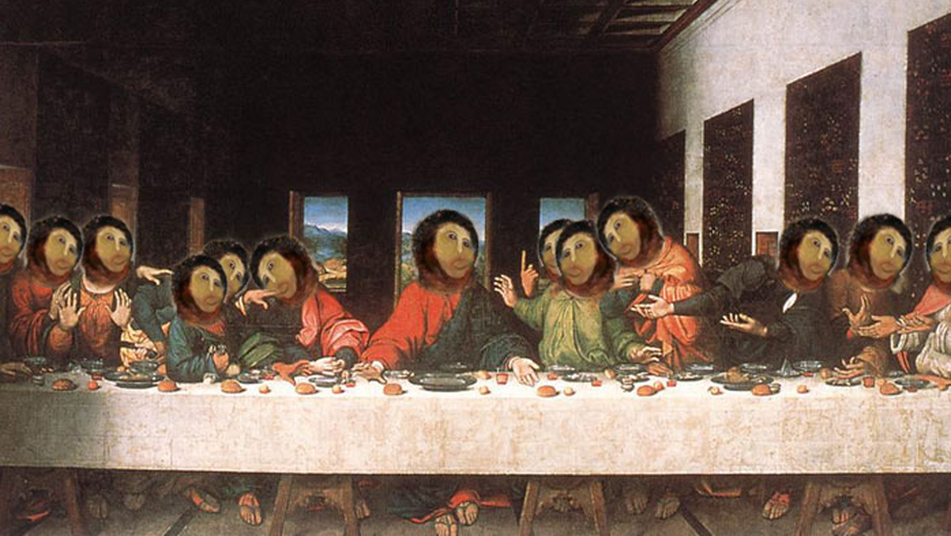la ultima cena de leonardo da vinci estilo ecce homo
