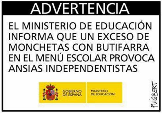 ministerio educacion español advierte a catalunya