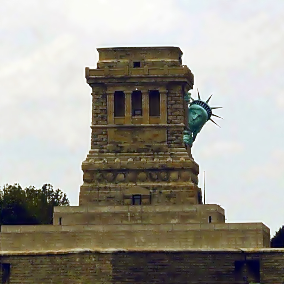 the statue of liberty and hurricane sandy