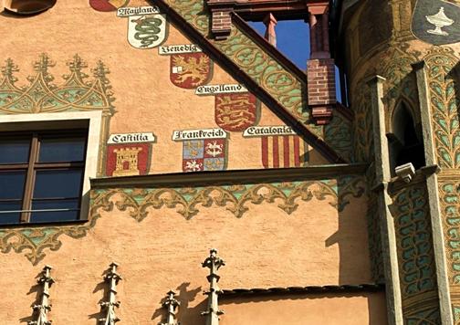 ayuntamiento ulm año 1370 escudo de catalunya