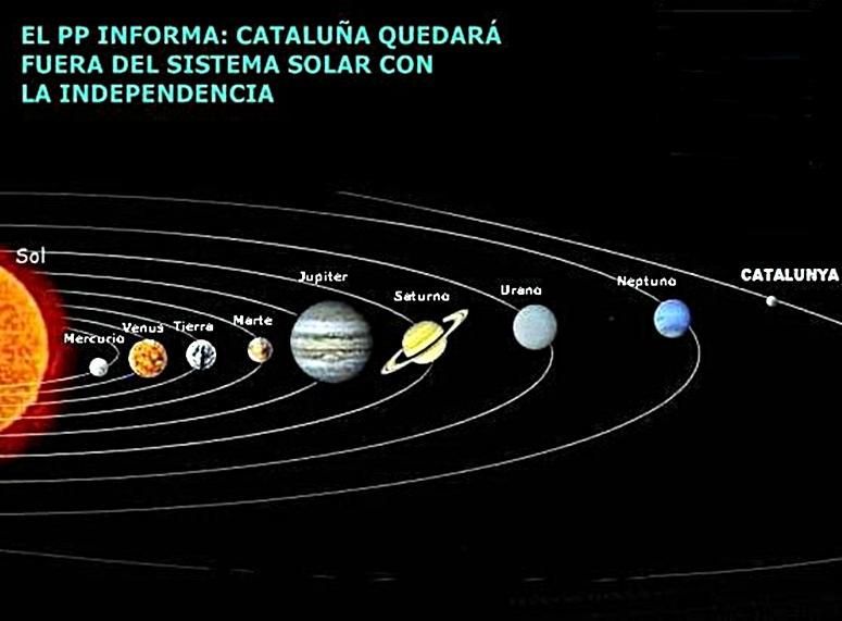 catalunya  independiente quedara fuera del sistema  solar