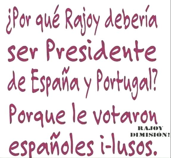 rajoy presidente de españa y portugal